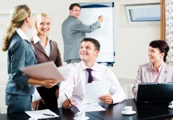 Positive Einstellung bei der Arbeit